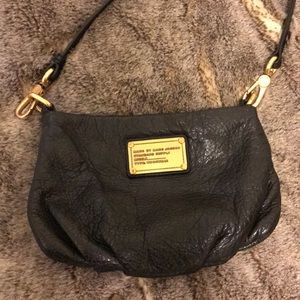 Marc Jacobs Percy leather black crossbody bag