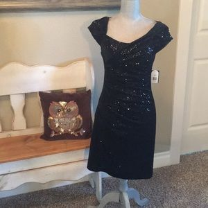 Jessica Simpson- Black sequin dress