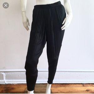 ZARA//black silk crossover pants S