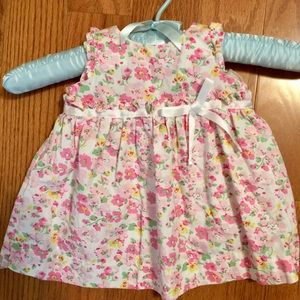 Chaps Dress Sleeveless Floral  Size 3 Months Girl