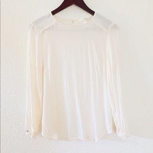 H&M White Cream Blouse