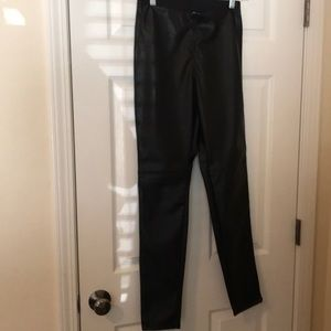 H&M 'leather' leggings. Size 8. NWT