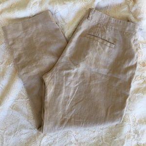 Anthro elevenses linen trouser pants