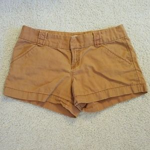 Brown Cotton Shorts
