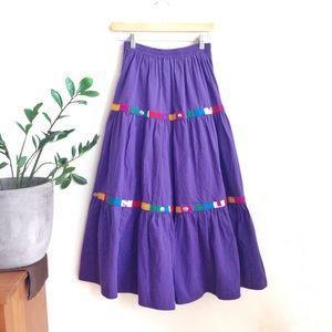VTG🌵80s Southwest Navajo Cowgirl Maxi Skirt!