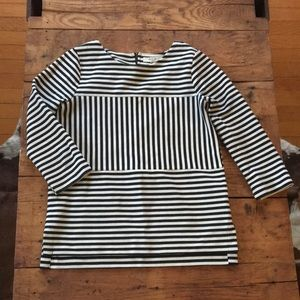 Madewell ribbed and stripped top