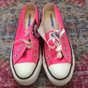 Converse pink slip on miles size 8 nwt