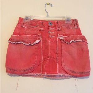 H&M orange Jean mini skirt