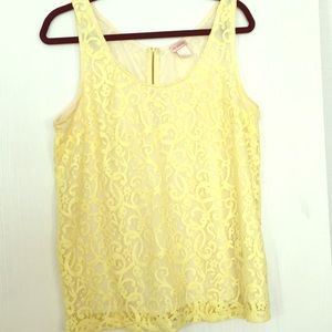 H & M Classic Lacey Tank with Lining- Women's L