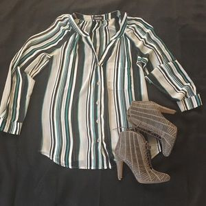 Bebe Striped Blouse