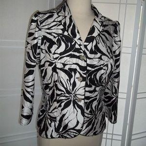 Victor Costa Black&White Embellished Formal Jacket
