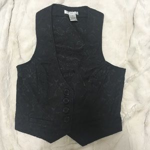 Brocade fitted vest