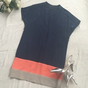 ⚡️FLASH SALE⚡️Navy/Coral/Tan color block dress