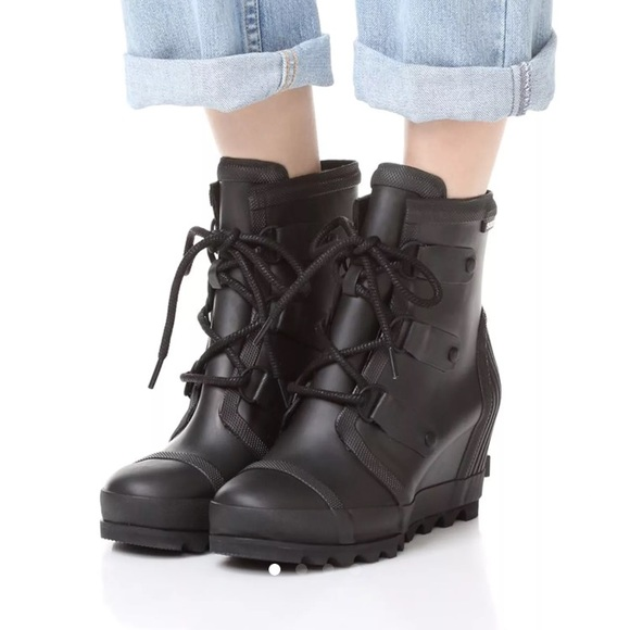 27968a6bc7af Sorel Joan rain wedge boots