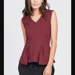 Noir Anthropologie structured sleeveless peplum