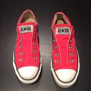 Converse All Stars! Hot Pink lace free sneakers!