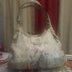 COACH Madison Python Embossed Leather Bag