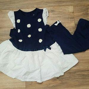 Little girl's dress and leggings.
