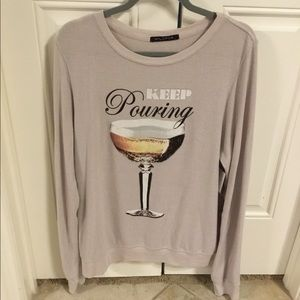 Wildfox NWT Size L Large Sweatshirt Keep Pouring