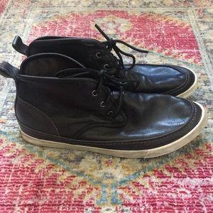 Converse + John Varvatos leather high tops sz 9