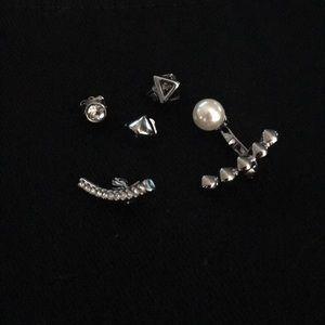 Rebecca Minkoff silver ones earrings