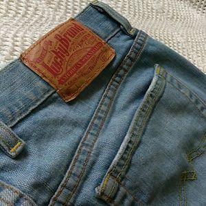 """Lucky Brand"" reg. inseam , flared jeans"