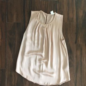 Silky blush sleeveless blouse