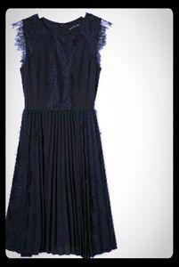 Banana Republic Black lace pleated dress 14