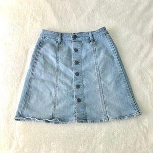 Button up jean skirt!