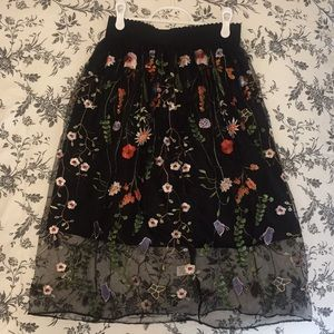 Cute Anthropology -esque Skirt, Embroidered