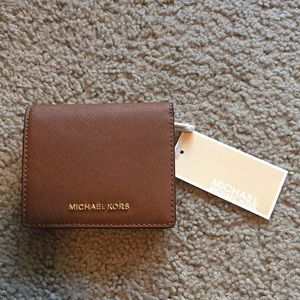 Brown Michael Kors Leather Travel Wallet