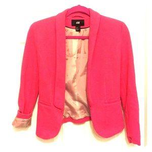 H&M hot pink blazer, size 4