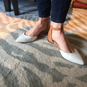 Dolce Vita ankle strap flat tan and cream