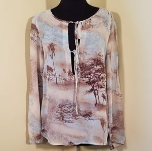 Karen Kane, Medium, Sheer Safari Blouse