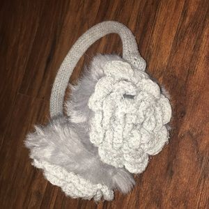 Knit Flower Earmuffs