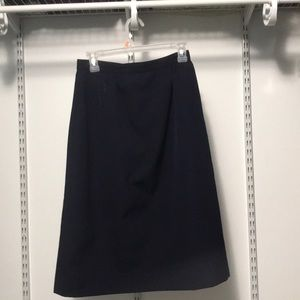 100% wool navy skirt