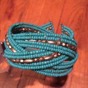 H&M Turquoise Beaded Bracelet!