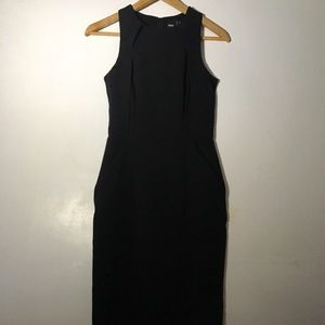 ASOS Black Sleeveless Dress With Pockets Size 8