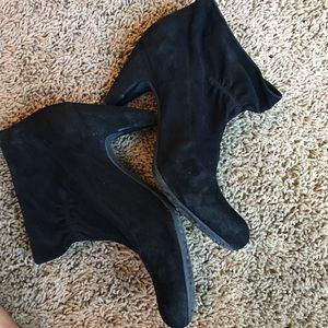BCBGirls Shoes - BCBGirls black suede ankle boots sz 8.5