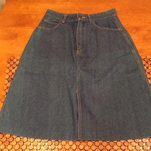 Vintage A-line Jean Skirt - size S/M