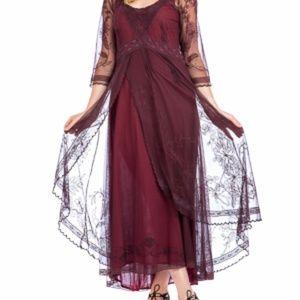 Nataya Dresses - Nataya Rich Burgundy Vintage Inspired Dress