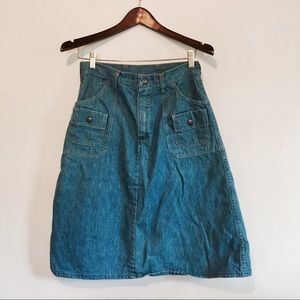 Vintage high waisted Wrangler skirt
