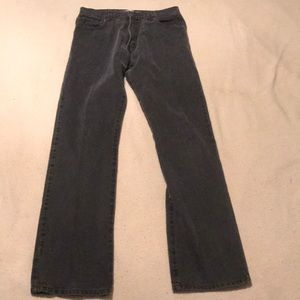 Vintage Levi's 517 boot cut 34x36 faded black cool