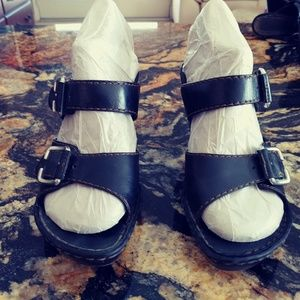 BORN Double Strap High Heel Clogs