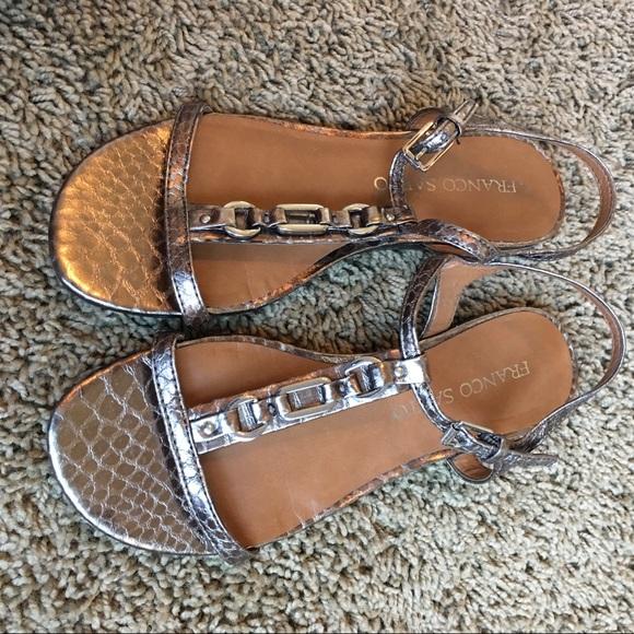 Franco Sarto Shoes - Franco Sarto sandals sz 6 bronze embellished