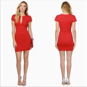 Red Tobi Bodycon Dress!