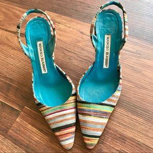 Manolo Blahnik Carolyne Slingback Heels