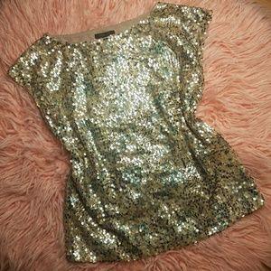 Rachel Zoe sparkly sequin blouse