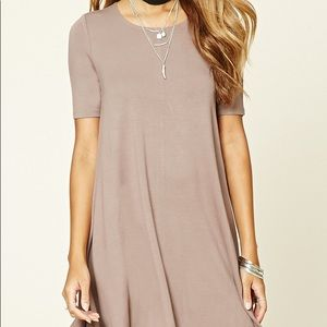 Forever 21 mauve trapeze dress
