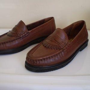 brown genuine leather man